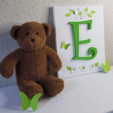 Load image into Gallery viewer, Nursery Wall Art - Green Wood Letters