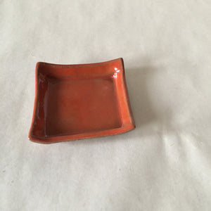 Orange Faux Bois Trinket/Incense Tray