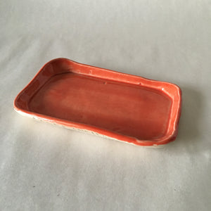 Coral Rectangular Faux Bois Soapdish