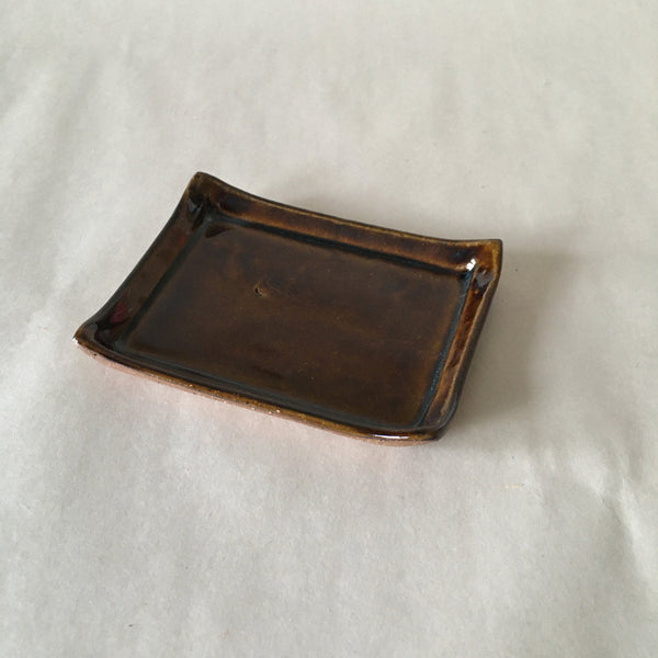 Brown Faux Bois Soapdish