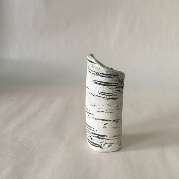 "3.5"" Green Birch Bud Vase"