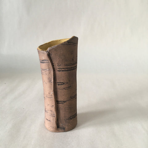 "4.5"" Orange Birch Bud Vase"