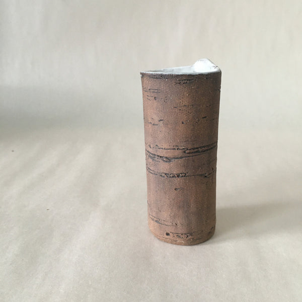 "4"" White Birch Bud Vase"