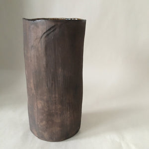 Brown Wood Texture Vase