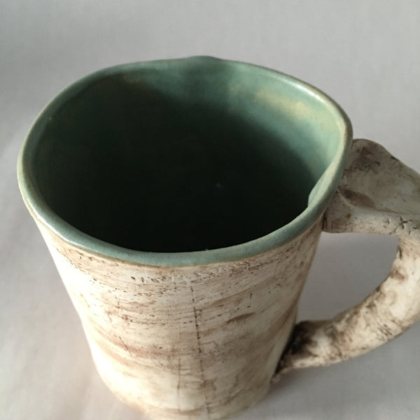 12oz Green Reclaimed Wood Mug