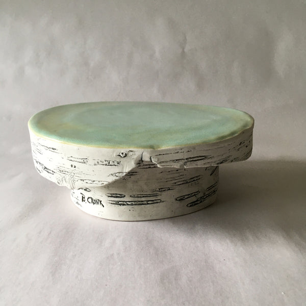 Small Green Birch Pastry/Cake Stand