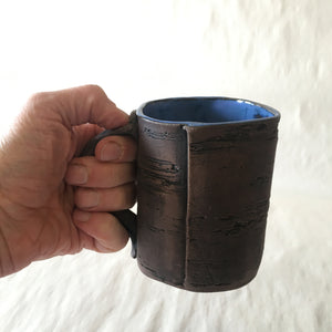 16oz Blue Brown Birch Mug