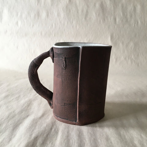 16oz White Reclaimed Wood Mug