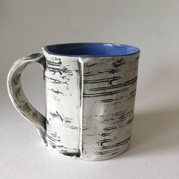 Blue Faux Bois Birch Mug
