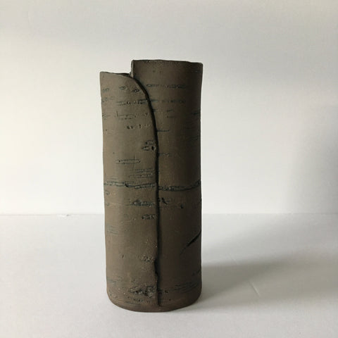 Dark Brown Birch Vase