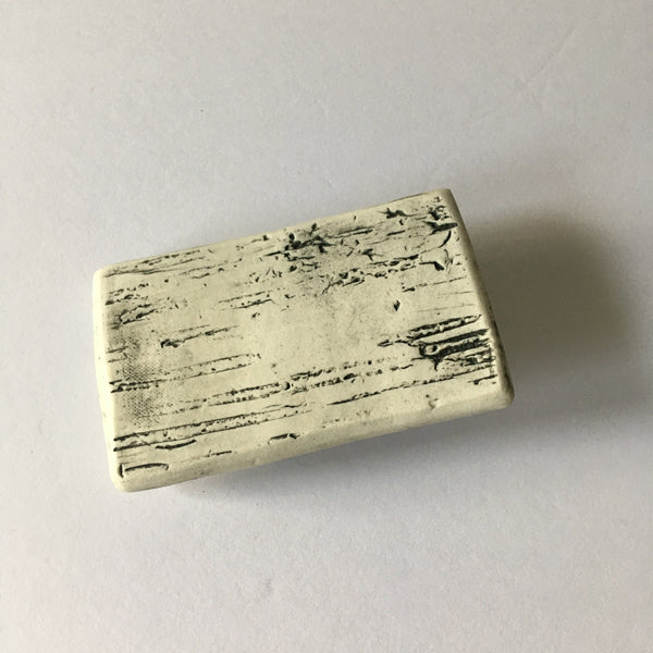 Ceramic Birch Bark Belt Buckle