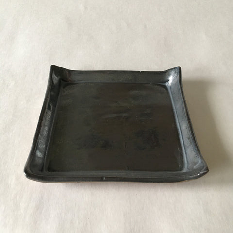 Metallic Gray Square Catchall Dish