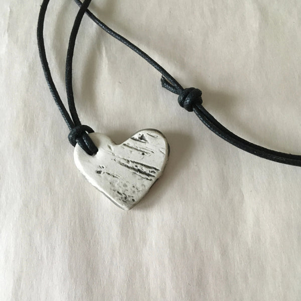 Heart Shaped Birch Pendant