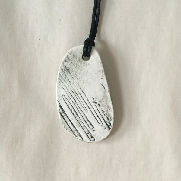Birch Oval Pendant Necklace