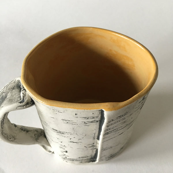 Orange Yellow Faux Bois Birch Mug