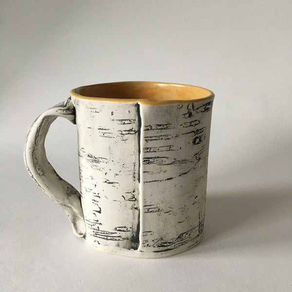 12oz Orange Yellow Birch Mug