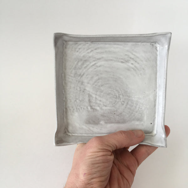 Tree Rings Square White Catchall Dish