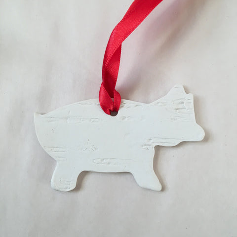 2020 Pig Birch Ornament