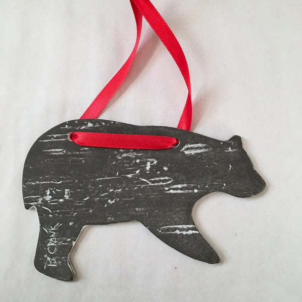 2020 Brown Bear Birch Ornament