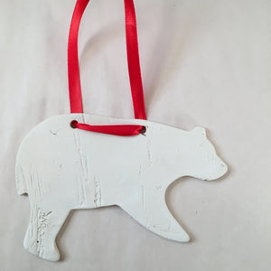 2020 White Bear Birch Ornament
