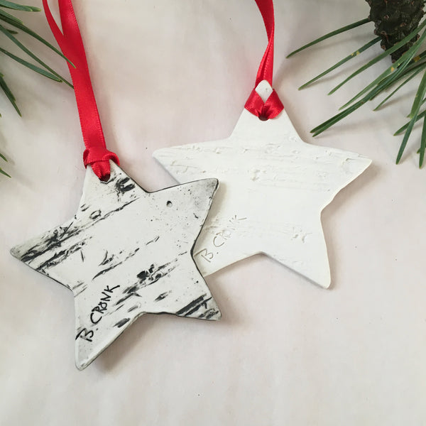 2020 Star Birch Ornament