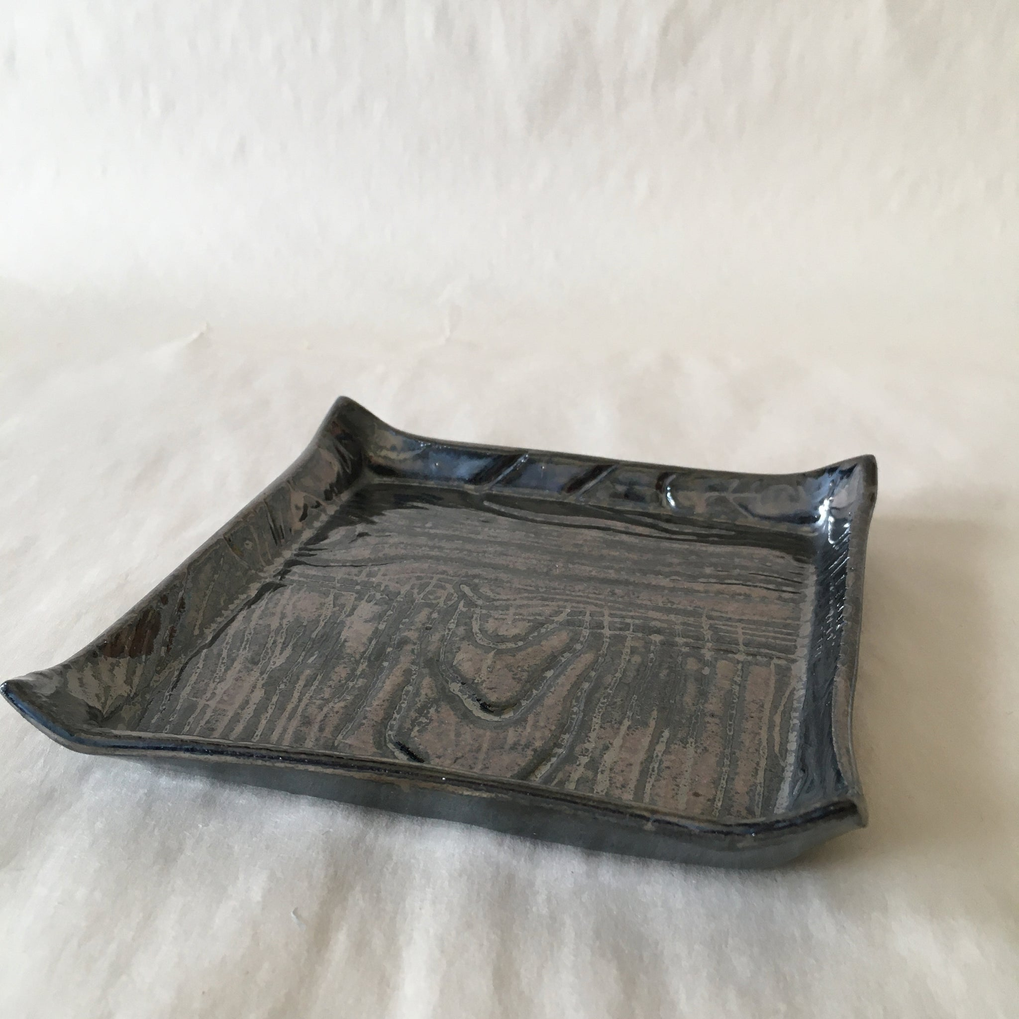 Metallic Faux Bois Catchall Dish