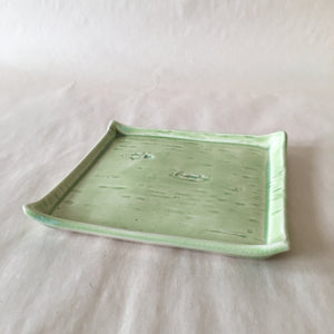 Green Birch Bark Catchall Dish