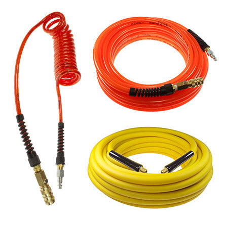 Coilhose Pneumatics Flexeel Yellow Belly and Flexcoil hose group