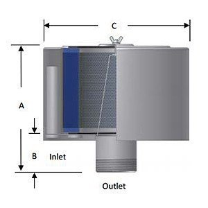 Solberg FS-244P-300 filter silencer diagram