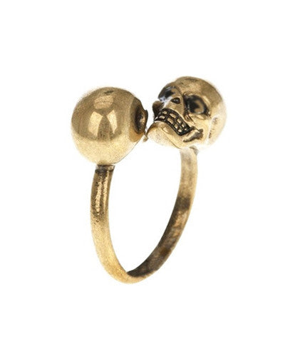Two Headed Skull Ring