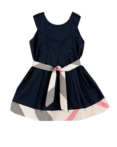 Plaid Belted Baby Dress