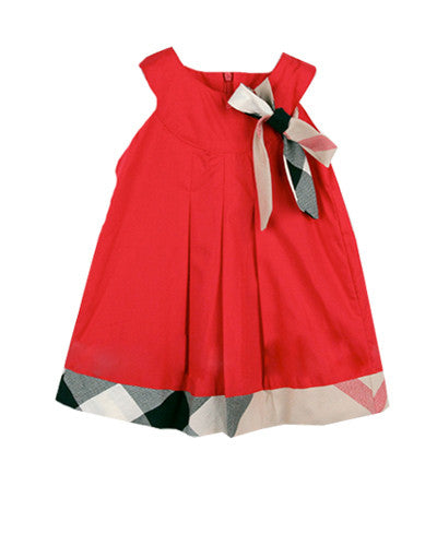 Plaid Bow Baby Dress