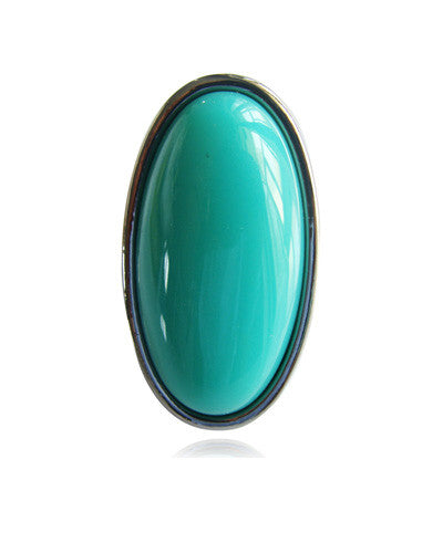 Over-Sized Turquoise Oval Ring