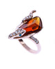 Amber Serpent Ring