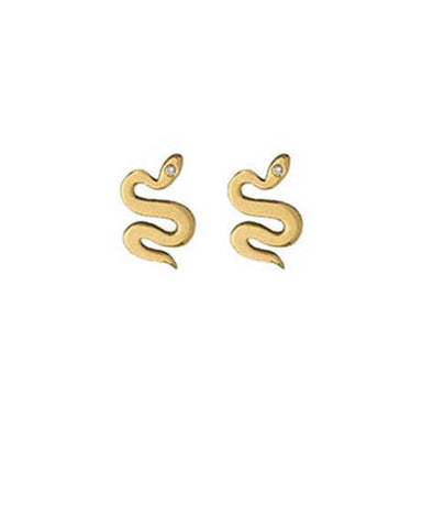 Gold Plated Slither Earrings