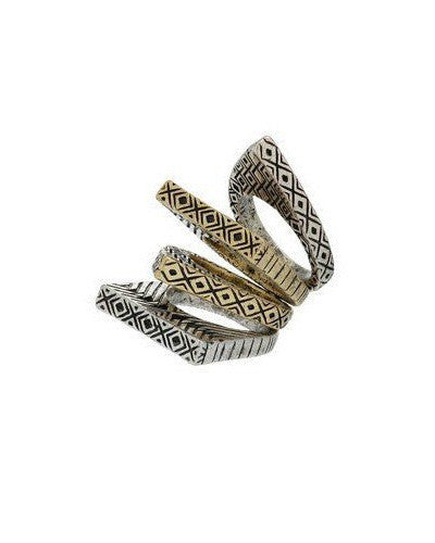 Tribal Stack Rings Set