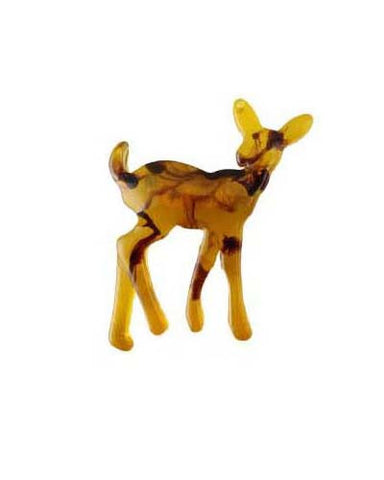 Amber Grain Deer Brooch