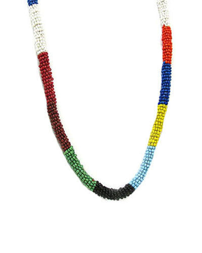 Seed Beaded Rope Necklace