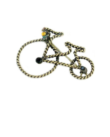 Antique Bicycle Brooch
