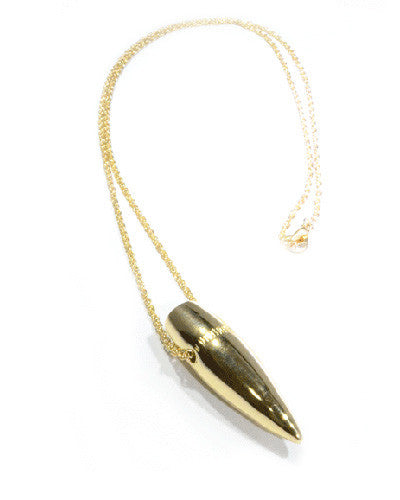 Etched Bullet Necklace