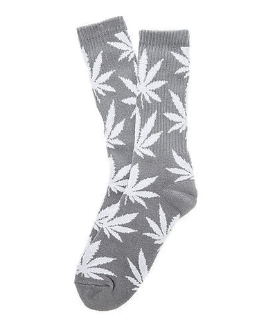 Charcoal Plantlife Leaf Socks