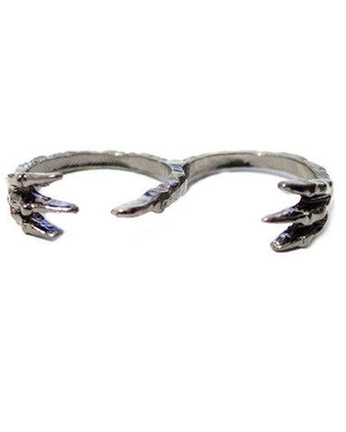 Double Finger Claw Ring