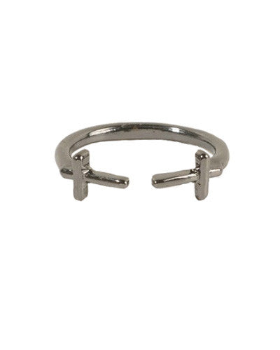Cross Twin Wrap Ring