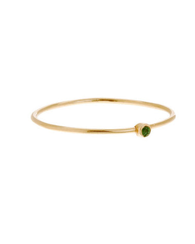 Gold Emerald Thin Ring
