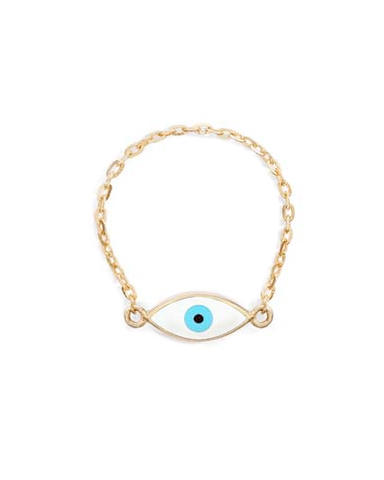 Mini Evil Eye Chain Ring