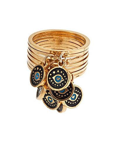 Evil Eye Band Ring Set