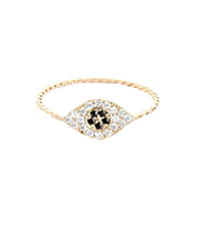 Crystal Evil Eye Ring