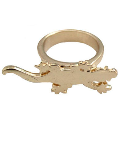 Gold Lizard Ring