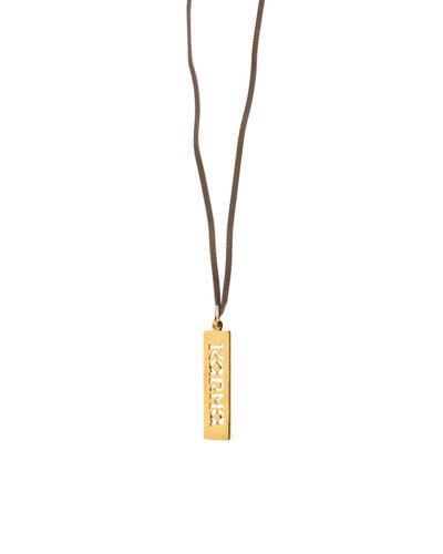 Karma Leather Necklace