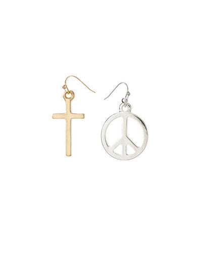 Peace Cross Earrings